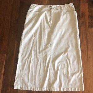 Talbots Twill Skirt, light khaki W18